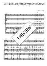 Téléchargez la partition de Ah ! Que nos pères étaient heureux ! en PDF pour 3 voix SAB et piano