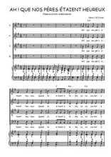 Téléchargez la partition de Ah ! Que nos pères étaient heureux ! en PDF pour 4 voix SATB et piano