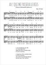 Téléchargez l'arrangement de la partition de Traditionnel-Ah-qui-me-passera-le-bois en PDF à deux voix