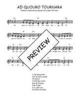 Téléchargez l'arrangement de la partition de Traditionnel-Ai!-quouro-tournara en PDF à deux voix