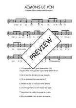 Téléchargez l'arrangement de la partition de Traditionnel-Aimons-le-vin en PDF à deux voix