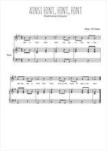 Téléchargez la partition de Ainsi font font font les petites marionnettes en PDF pour Chant et piano