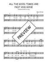 Téléchargez l'arrangement de la partition de Traditionnel-All-the-good-times-are-past-and-gone en PDF à trois voix