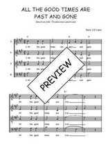 Téléchargez l'arrangement de la partition de Traditionnel-All-the-good-times-are-past-and-gone en PDF à quatre voix