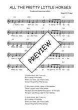 Téléchargez l'arrangement de la partition de Traditionnel-All-the-pretty-little-horses en PDF à deux voix