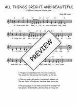 Téléchargez l'arrangement de la partition de Traditionnel-All-things-bright-and-beautiful en PDF à deux voix