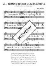 Téléchargez l'arrangement de la partition de Traditionnel-All-things-bright-and-beautiful en PDF à trois voix