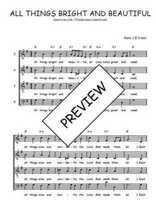 Téléchargez l'arrangement de la partition de Traditionnel-All-things-bright-and-beautiful en PDF à quatre voix