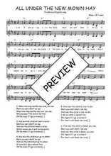 Téléchargez l'arrangement de la partition de Traditionnel-All-under-the-new-mown-hay en PDF à deux voix