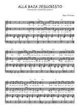 Téléchargez la partition de Allá baja Jesucristo en PDF pour 2 voix égales et piano