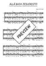 Téléchargez l'arrangement de la partition de perou-alla-baja-jesucristo en PDF à trois voix
