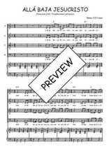 Téléchargez la partition de Allá baja Jesucristo en PDF pour 4 voix SATB et piano