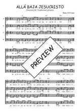 Téléchargez l'arrangement de la partition de perou-alla-baja-jesucristo en PDF à quatre voix