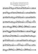 Téléchargez la partition en Sib de la musique perou-alla-baja-jesucristo en PDF