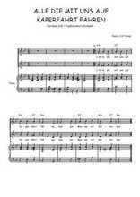 Téléchargez la partition de Alle die mit uns auf Kaperfahrt fahren en PDF pour 2 voix égales et piano
