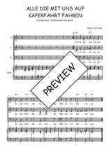 Téléchargez la partition de Alle die mit uns auf Kaperfahrt fahren en PDF pour 3 voix SAB et piano
