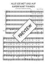 Téléchargez la partition de Alle die mit uns auf Kaperfahrt fahren en PDF pour 4 voix SATB et piano