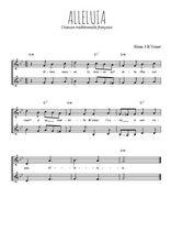 Téléchargez l'arrangement de la partition de Traditionnel-Alleluia en PDF à deux voix