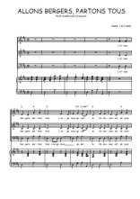 Téléchargez la partition de Allons bergers, partons tous en PDF pour 3 voix SAB et piano