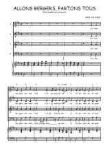 Téléchargez la partition de Allons bergers, partons tous en PDF pour 4 voix SATB et piano