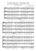 Téléchargez l'arrangement de la partition de Traditionnel-Allons-bergers-partons-tous en PDF à quatre voix