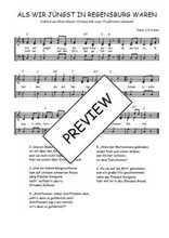 Téléchargez l'arrangement de la partition de Traditionnel-Als-wir-jungst-in-Regensburg-waren en PDF à trois voix