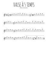 Téléchargez la partition de la musique alsace-valse-a-5-temps en PDF, pour flûte traversière