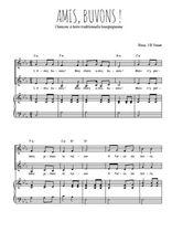 Téléchargez la partition de Amis, buvons ! en PDF pour 2 voix égales et piano