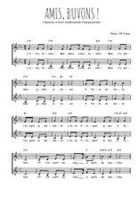 Téléchargez l'arrangement de la partition de chanson-a-boire-amis-buvons en PDF à deux voix