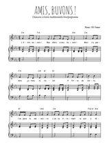 Téléchargez la partition de Amis, buvons ! en PDF pour Chant et piano