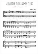 Téléchargez l'arrangement de la partition de Traditionnel-And-let-me-the-canakin-clink en PDF à deux voix