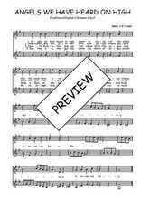 Téléchargez l'arrangement de la partition de Traditionnel-Angels-we-have-heard-on-high en PDF à deux voix