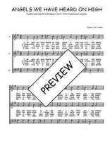Téléchargez l'arrangement de la partition de Traditionnel-Angels-we-have-heard-on-high en PDF à trois voix