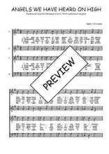 Téléchargez l'arrangement de la partition de Traditionnel-Angels-we-have-heard-on-high en PDF à quatre voix