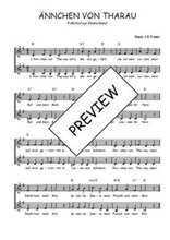 Téléchargez l'arrangement de la partition de Traditionnel-Annchen-von-Tharau en PDF à deux voix