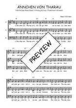 Téléchargez l'arrangement de la partition de Traditionnel-Annchen-von-Tharau en PDF à trois voix