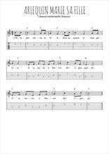 Téléchargez la tablature de la musique Traditionnel-Arlequin-marie-sa-fille en PDF