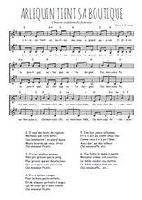 Téléchargez l'arrangement de la partition de Traditionnel-Arlequin-tient-sa-boutique en PDF à deux voix