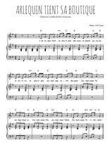 Téléchargez la partition de Arlequin tient sa boutique en PDF pour Chant et piano