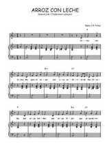 Téléchargez la partition de Arroz con leche en PDF pour Chant et piano