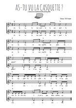 Téléchargez l'arrangement de la partition de Traditionnel-As-tu-vu-la-casquette en PDF à deux voix