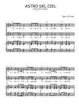 Téléchargez la partition de Astro del Ciel en PDF pour 2 voix égales et piano