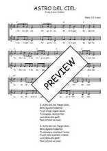 Téléchargez l'arrangement de la partition de Traditionnel-Astro-del-Ciel en PDF à deux voix