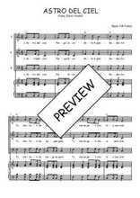 Téléchargez la partition de Astro del Ciel en PDF pour 3 voix SAB et piano