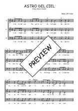 Téléchargez l'arrangement de la partition de Traditionnel-Astro-del-Ciel en PDF à trois voix
