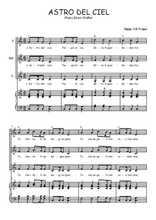 Téléchargez la partition de Astro del Ciel en PDF pour 3 voix SSA et piano