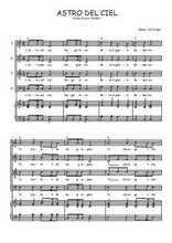 Téléchargez la partition de Astro del Ciel en PDF pour 4 voix SATB et piano