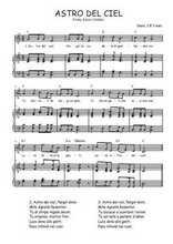 Téléchargez la partition de Astro del Ciel en PDF pour Chant et piano