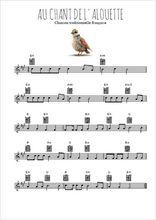 Téléchargez la partition en Sib de la musique au-chant-de-l-alouette en PDF