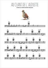 Téléchargez la partition de au-chant-de-l-alouette en clef de fa